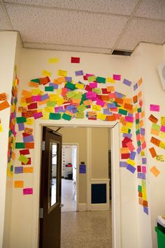 "This is a ""Shout Out Wall"" where students can shout out their success in school, home, work or activities…image only…the blog is gone. Kids would love to read these!"