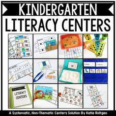 Kindergarten Literacy Centers GROWING Bundle - Check out these non-thematic kindergarten literacy centers. Each download contains 20 literacy centers or stations. Use them at ANY time of year and in a variety of classroom or homeschool settings. You will get packs for September through May. Center types include sight words, sort it out, letters & sounds, literacy spotlight, and I'm a writer. Click to grab these for your kinders today!