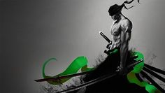 """Roronoa Zoro, nicknamed """"Pirate Hunter"""" Zoro, is a fictional character in the One Piece franchise created by Eiichiro Oda. In the story, Zoro is the first to join Monkey D. Luffy after he is saved from being executed at the Marine Base Roronoa Zoro, Zoro Nami, One Piece New World, One Piece Logo, Zoro One Piece, Zoro Wallpaper, One Piece Wallpaper Iphone, Wallpaper Awesome, Anime One"""