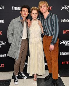 An interview with Gavin Leatherwood about Netflix's The Chilling Adventures of Sabrina Part and how he feels about Harvey Kinkle vs. Harvey Sabrina, Sabrina Cast, Harvey Kinkle, Jaz Sinclair, Kiernan Shipka, Sabrina Spellman, Ross Lynch, Hollywood Actor, Favorite Tv Shows