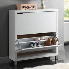 Simms 3 drawer modern shoe cabinet maple on hautelook for Ikea stall shoe rack