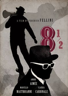8½ (8 and a half) (1963) ~ Alternative Movie Poster by Victoria Igos #amusementphile