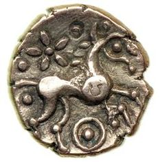 Late Freckenham type, c. Gold Quarter Stater g). Iceni Tribe, Celtic Art, Iron Age, Anglo Saxon, Picts, Vikings, Britain, Coins, Bronze