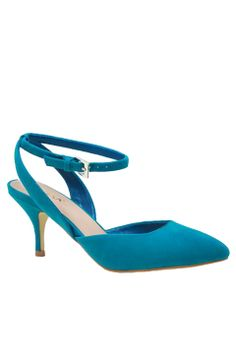 Mixx Shuz Teal Nicki Kitten Heel | Kittens, Look at and Love