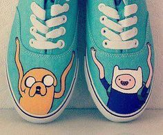 Adventure Time Shoes | Vans.Some shoes if u like adventure time.