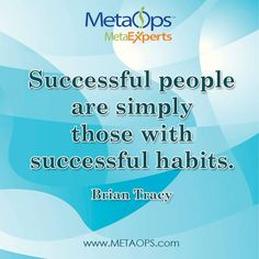 """Successful people are simply those with successful habits. Brian Tracy"""