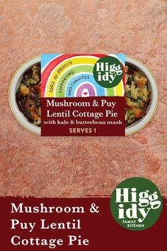 Enjoy two of your five a day with our Mushroom & Puy Lentil Cottage Pie from Sainsbury's. Pie And Mash, Cottage Pie, Eat The Rainbow, Sainsburys, Lentils, Kale, Baking Recipes, Oatmeal, Stuffed Mushrooms