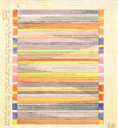 Gunta Stölzl - Bauhaus Master; Design for a wall hanging Bauhaus Weimar 27.9x25.6 cm Museum of Modern Art, New York