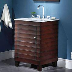 "Xylem WAVE 24"" Classic Contemporary Bathroom Vanity V-WAVE-24DE: 24""W x 21.5""D x 34""H"