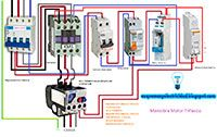 Esquemas eléctricos: Maniobra motor trifásico