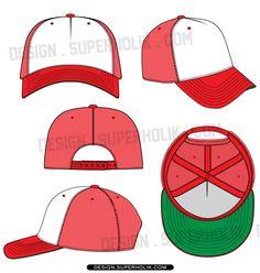 Fashion design templates, Vector illustrations and Clip-artsTrucker hat template cap vector - fashion design vector body form Drawing Hats, Cap Drawing, Drawing Clothes, Clothing Templates, Fashion Design Template, Design Templates, Hat Template, Flat Drawings, Do Rag