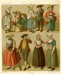 "1888. ""Le Costume Historique"" by A. Racinet.  Holland in the 18th century."