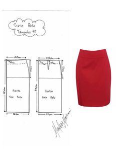 DIY - molde, corte e costura - Marlene Mukai Dress Sewing Patterns, Blouse Patterns, Clothing Patterns, Sewing Clothes, Diy Clothes, Dress Tutorials, Pattern Cutting, Pattern Drafting, Pants Pattern