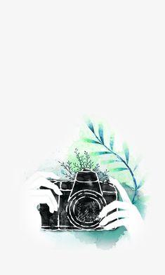 в руке,фотоаппарат,акварель,описание,в руках фотоаппарат