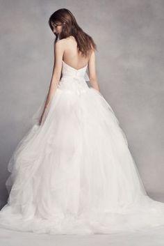 White by Vera Wang Draped Tulle Wedding Dress 4XLVW351339