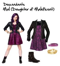 """Descendants: Mal #2 // Kazia"" by fictional-fandom-freak ❤ liked on Polyvore featuring Disney, Alice + Olivia, Balenciaga, Penny Loves Kenny, House of Harlow 1960, Golden Goose, disney, maleficent, mal and Descendants"