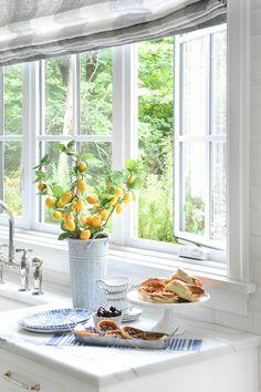 Summer sink window open