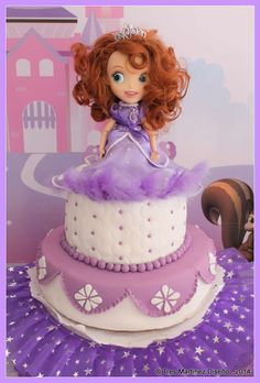 Belcha Specius's Birthday / Princess Sofia + Sophia the firts - Photo Gallery at Catch My Party Princess Sofia Party, Princess Birthday, 3rd Birthday Parties, 2nd Birthday, Birthday Cakes, Sofia Cake, Cake Design Inspiration, Party Themes, Party Ideas