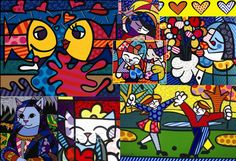 I discovered the work of Romero Britto yesterday while perusing a very eclectic drugstore near campus. I found some of his Disney figurines. I instantly fell in love. His art is candy for my eyes.