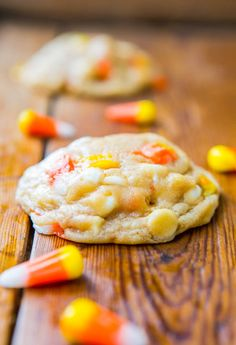 Candy Corn and White Chocolate Softbatch Cookies -