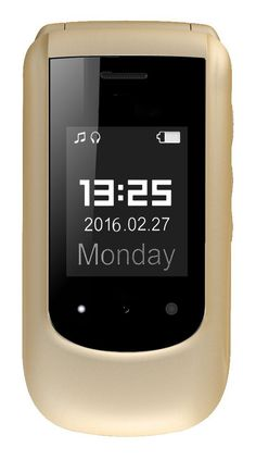"""YINGTAI T09 2G 2.4""""Screen Big volume and Fonts SOS Button Senior Phone-Support Bluetooth 0.08MP Camera Feature Phone (Gold): Amazon.co.uk: Electronics"""