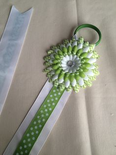 A personal favorite from my Etsy shop https://www.etsy.com/listing/231030640/green-and-white-bow-holder