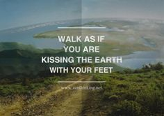walk as if you are kissing the earth with your feet - Thich Nhat Hanh Such a beautiful concept. Quotes To Live By, Me Quotes, Nature Quotes, Affirmations, It's All Happening, Thich Nhat Hanh, Note To Self, Beautiful Words, Beautiful Things