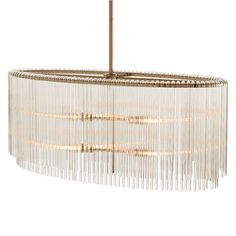 Arteriors Home Royalton 4L Oval Glass/Metal Pendant - Arteriors Home 49866