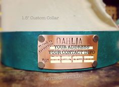 Personalized Leather Dog Collar with Hand by OFFtheCUFF2LLC