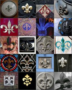 French New Orleans inspired All my life, from a young age, I've been attracted to and loved Fleur-de-Lis patterns. Long before I visited Nola and fell in love with the city.