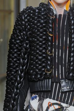 Balenciaga spearheading innovation with this jacket. Such an awesome twist on a Fall classic of the leather jacket.