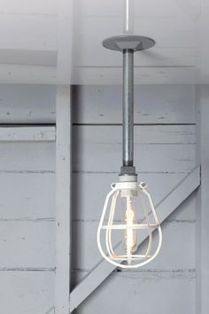 Industrial Lighting - Modern Cage Light Drop Pendant Pipe Lamp