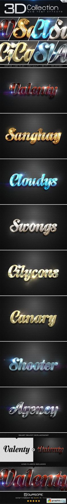 New 3D Collection Text Effects GO.1