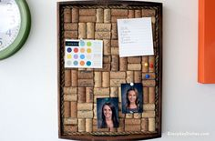 Wall Wine Cork Crafts for Teens | https://diyprojects.com/more-wine-cork-crafts-ideas/