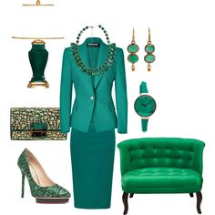 All About Emerald by fashionhabits, via Polyvore