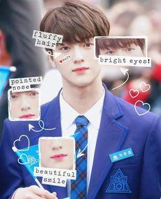 Fluffy Hair, Produce 101, Bright Eyes, Kim Min, To My Future Husband, Kpop Boy, Cute Stickers, I Love Him, Boy Or Girl
