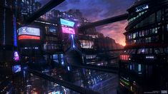 Futuristic City, Cyberpunk Atmosphere, Future City, Dark Future, Neo-Noir, Cyber City