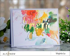 Altenew Thinking of You die New Day Pattern paper Yes, Virginia