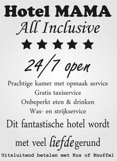 Muursticker Hotel mama - Versierendoejezo! webwinkel