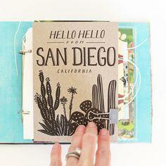 San Diego Mini Album by stephaniebryan at @studio_calico