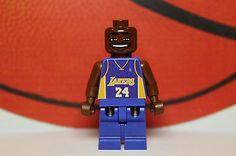 Lego KOBE BRYANT Custom Minifig Los Angeles Lakers NBA Basketball Player # 24