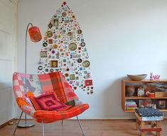 Knick-knack wall tree: 40 Ideas For a Non-Traditional Christmas Tree | Brit + Co.