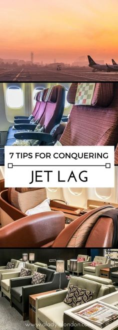 7 easy tips for conquering jet lag when you travel on a long-haul flight. #jetlag #travel