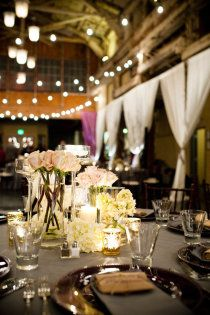 @Emily Bailey barn wedding idea make drapes for along side of party/table areas of barn