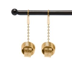 14k Gold Plated Knot Earrings