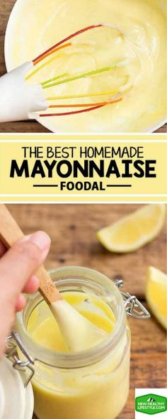 5 DELICIOUS HOMEMADE MAYONNAISE USING REAL FOOD THAT HAS NO ARTIFICIAL ADDITIVES,.,.