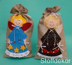 Coroas de Advento - Nikolaussack Nilolausäckchen saco do Presente - UMA PECA projetista de de Tecidos de Decoração los dawanda