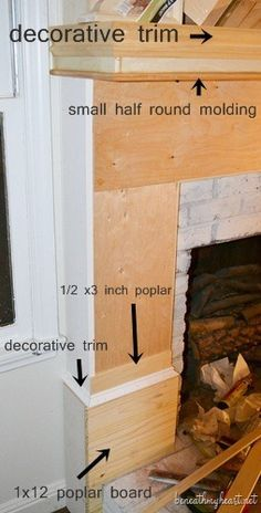 How to build a Fireplace Surround...would love to do this on our fireplace.