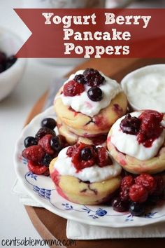 Add a twist to your normal pancake breakfast with this Yogurt Berry Pancake Poppers recipe. You can amp up the taste with berry flavored yogurt, and they're easy to make ahead, freeze, and reheat when needed.