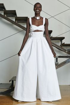 crazy about Rosie Assoulin Resort 2016 collection, especially this white evening jumpsuit